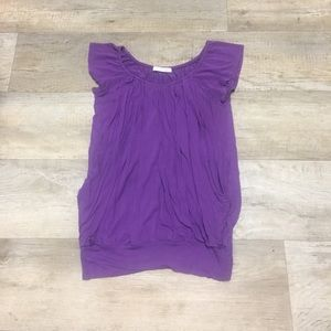 Love purple? Cap sleeved top. Make an offer!
